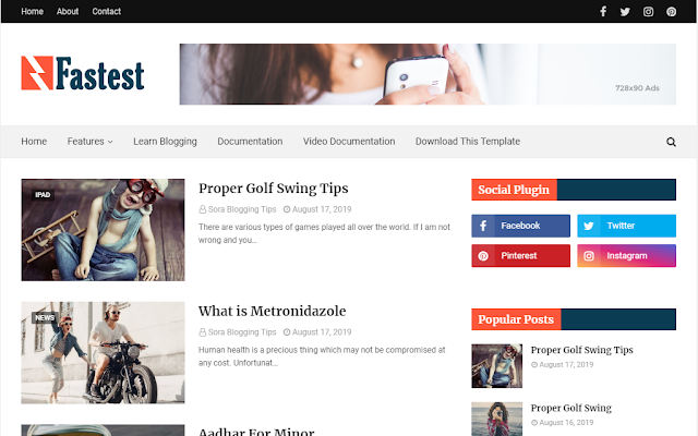 Fastest free blogger theme download