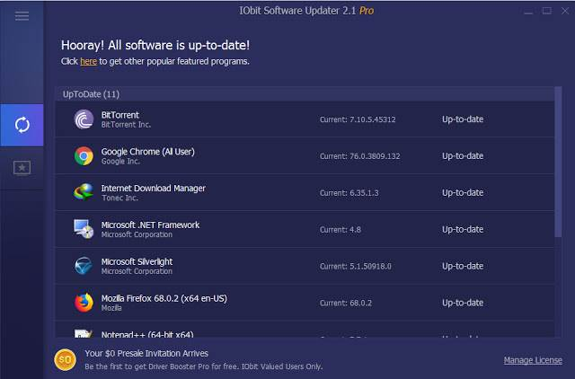 Screenshot IObit Software Updater Pro 2.1.0.2663 Full Version