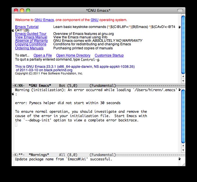 Emacs] Cocoa Emacs 에서 Pymacs 기동이 안되는 경우 - Seorenn