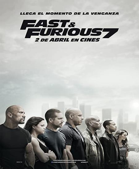 Furious 7 2015 Dual Audio Hindi-Eng 720p BluRay x264 1.1GB ESub
