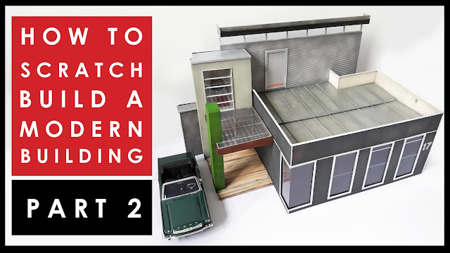 How to scratch build a scale model miniature building Part 2