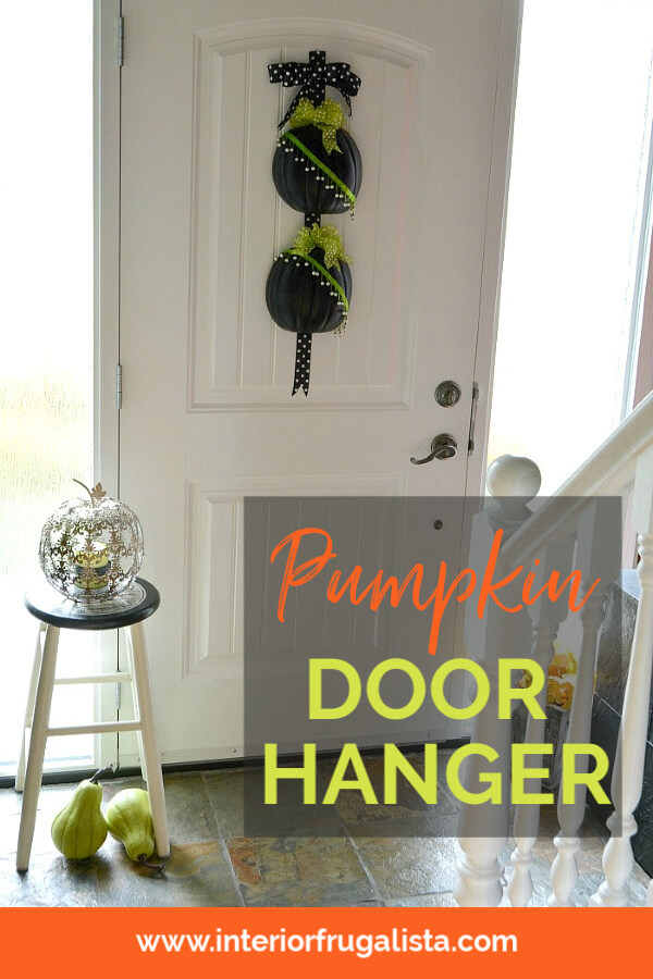 DIY Fall Pumpkin Door Hanger