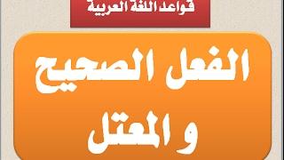 الصحيح والمعتل في اللغة العربية