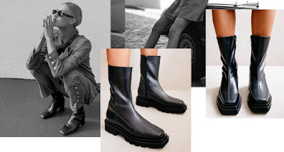alohas black leather boots