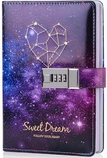 Starry sky lock diary from Amazon