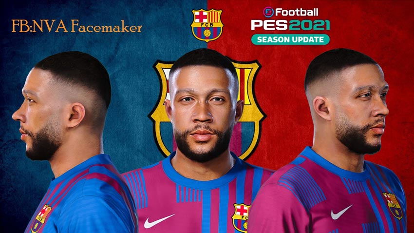 Memphis Depay Face For eFootball PES 2021
