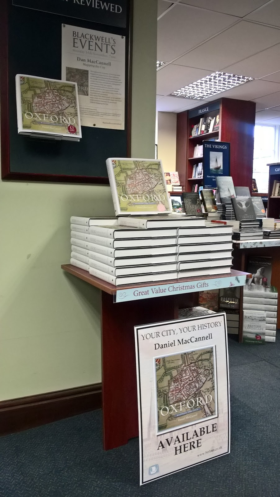 some super displays of mapping the city by daniel maccannell from birlinn at blackwell s in oxford all ready for its launch there on 14 november