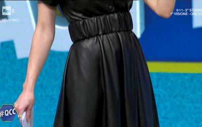 mia ceran vestito nero pelle sintetica