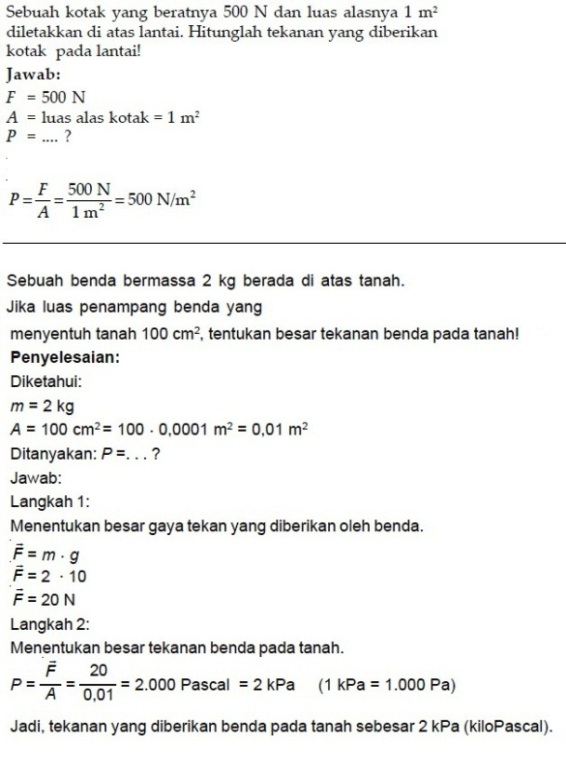 Contoh Soal Kumpulan Soal Pelajaran 5