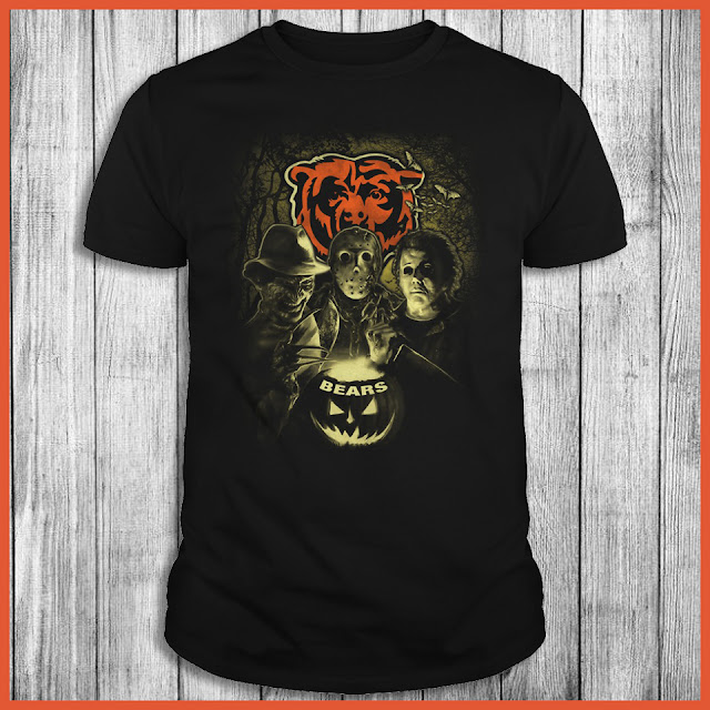Chicago Bears Halloween Horror Movie Shirt