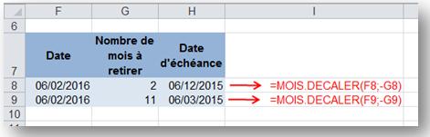 sb astuces - Excel - soustraire des mois à une date