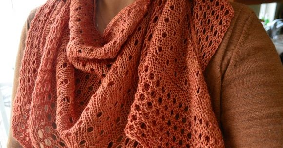 Knitting Rhyme In Through The Bunny Hole : Pebble beach shawl complete