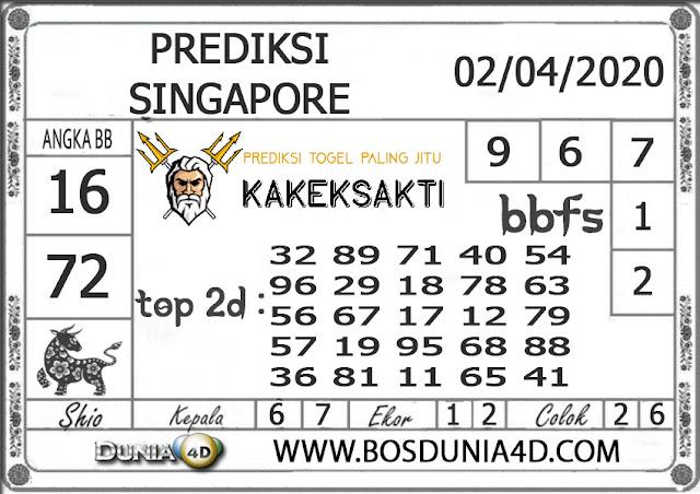 Prediksi Togel SINGAPORE DUNIA4D 02 APRIL 2020