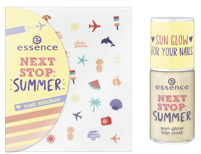 essence next stop: summer sun glow top coat