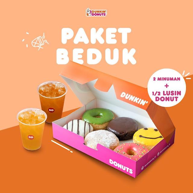 #DunkinDonuts - #Promo Paket Bedug (2 Minuman + 1/2 Lusin DOnut) s.d 04 Juni 2019