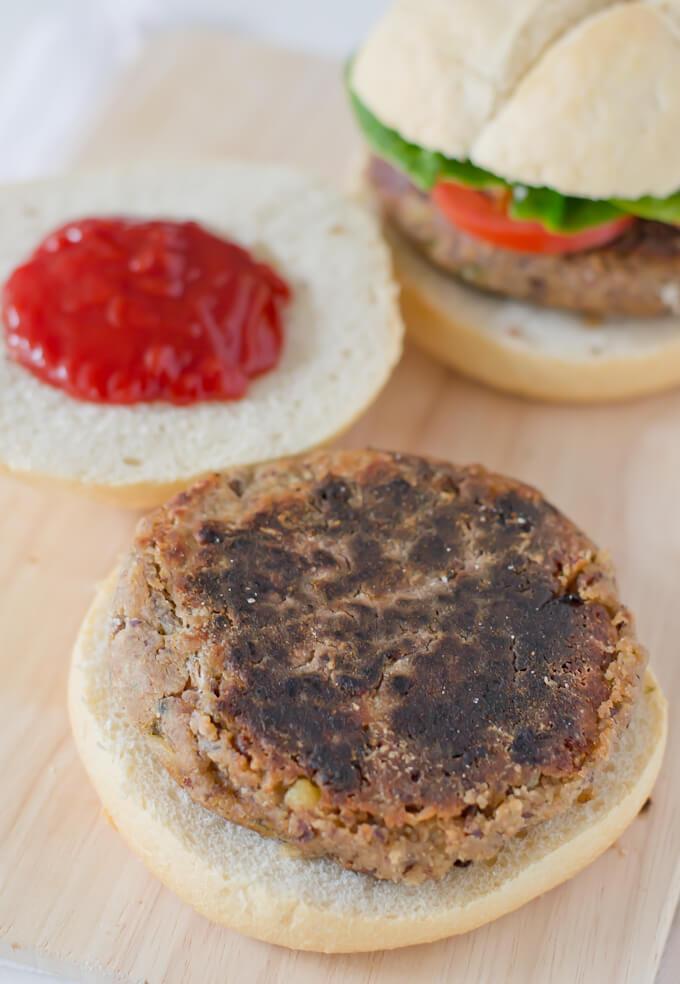 Vegetarian Burger via danceofstoves.com