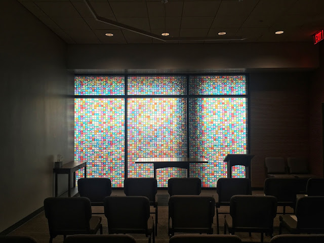 the small interfaith chapel in Terminal D of the International Airport