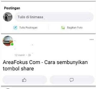 Cara Menyembunyikan Tombol Share di Facebook