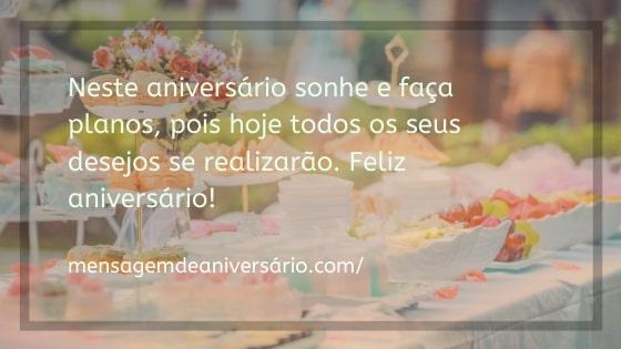 mensagem de feliz aniversario