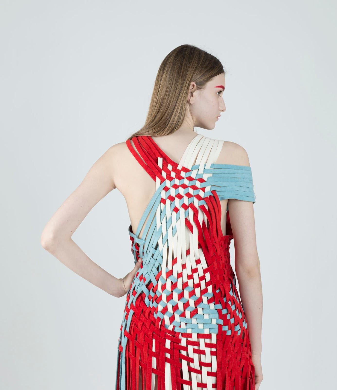 Vestido tejido cero residuos del diseñador Qi Wang