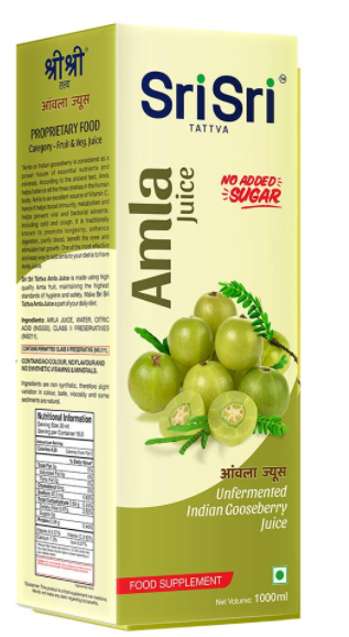 Sri Sri Tattva Amla Juice, 1Litre (Pack of 3)