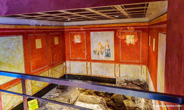 Restos de um santuário romano na Casa del Obispo, em Cádiz, Andaluzia