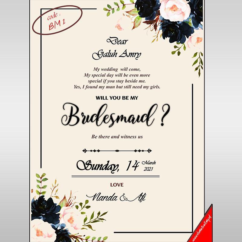 Bridesmaid Invitation BM1