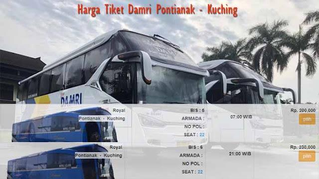 Harga Tiket Damri Pontianak Kuching Terbaru