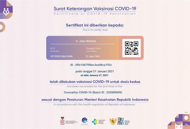 Sertifikat Vaksin Jokowi Beredar, Gus Nadir: Kok Keamanan Data Aplikasi PeduliLindungi Kayak Gini?