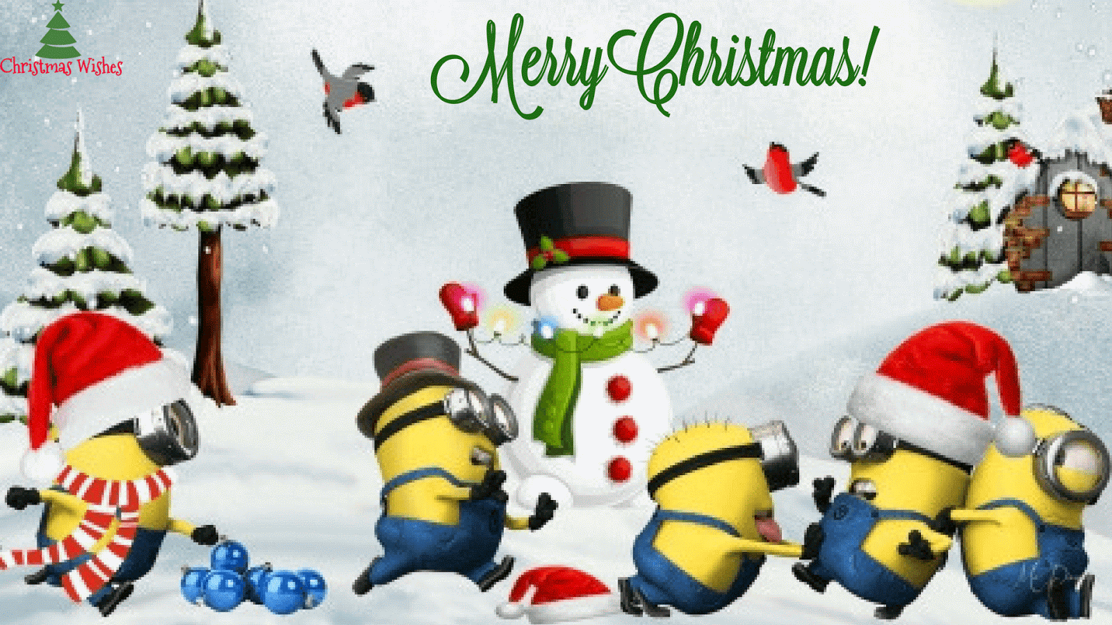 Funny Minion Merry Christmas Wallpapers Sayings: Weihnachtszeit Wallpaper