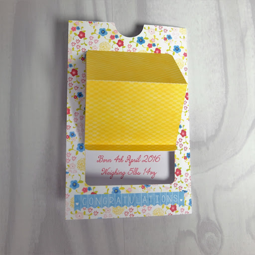 Pop up slider card assembly stage 3.  Tutorial by Nadine Muir for Silhouette UK Blog