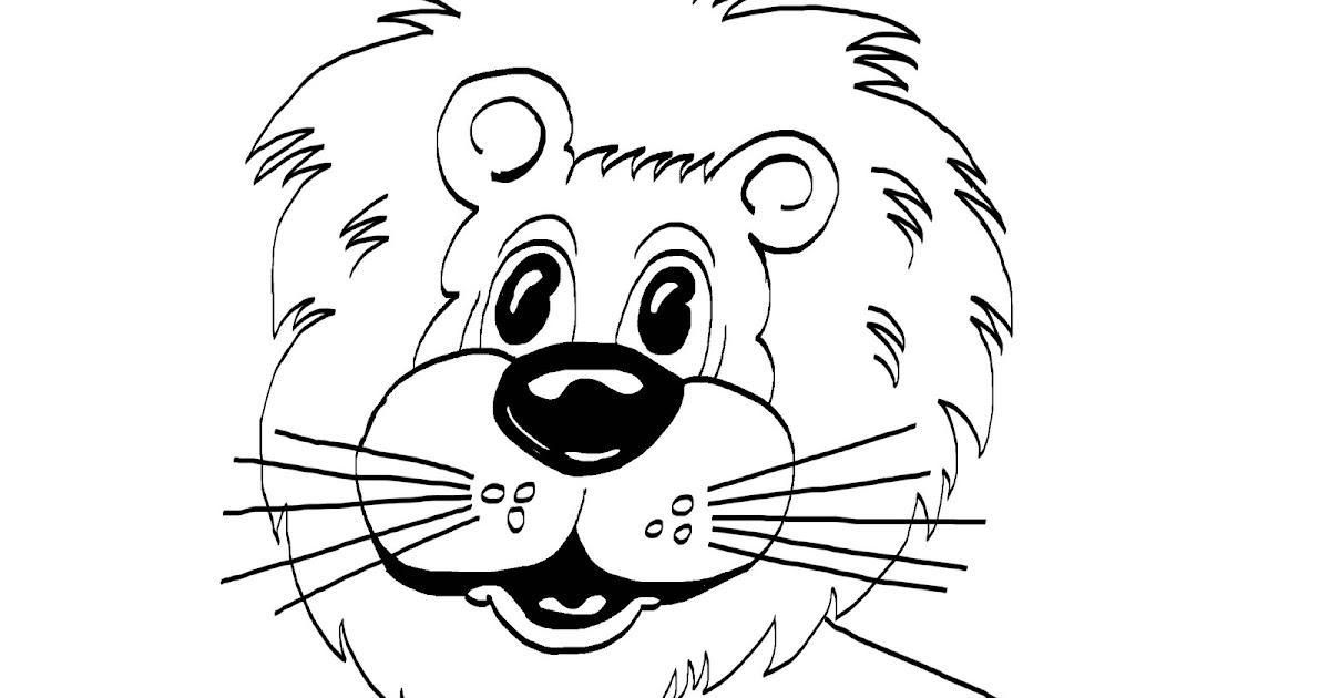 Gambar Belajar Mewarnai Hewan Singa Hidung Rebanas