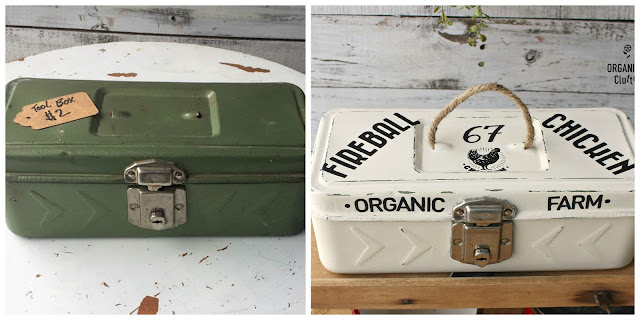 Toolbox With A Farmhouse Style Makeover