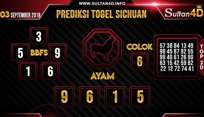 PREDIKSI TOGEL SICHUAN SULTAN4D 03 SEPTEMBER 2019