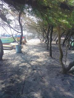 mancing,, wisata, piknik kincir angin di pantai baru jogja, yogya, bantul
