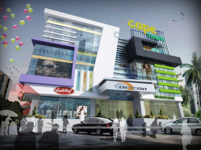 3d Mall Exterior Design,3d architectural design,3d mall animation