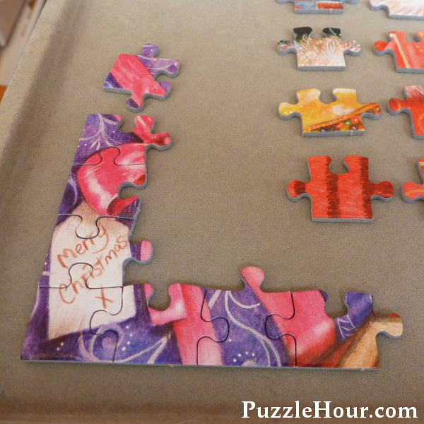 Starting the corner section of a 500 piece jigsaw puzzle how to do a 500pc
