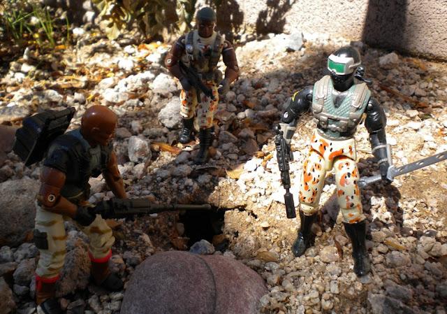 2004 Desert Patrol Snake Eyes, Stalker, TRU Exclusive, Anti Venom Roadblock