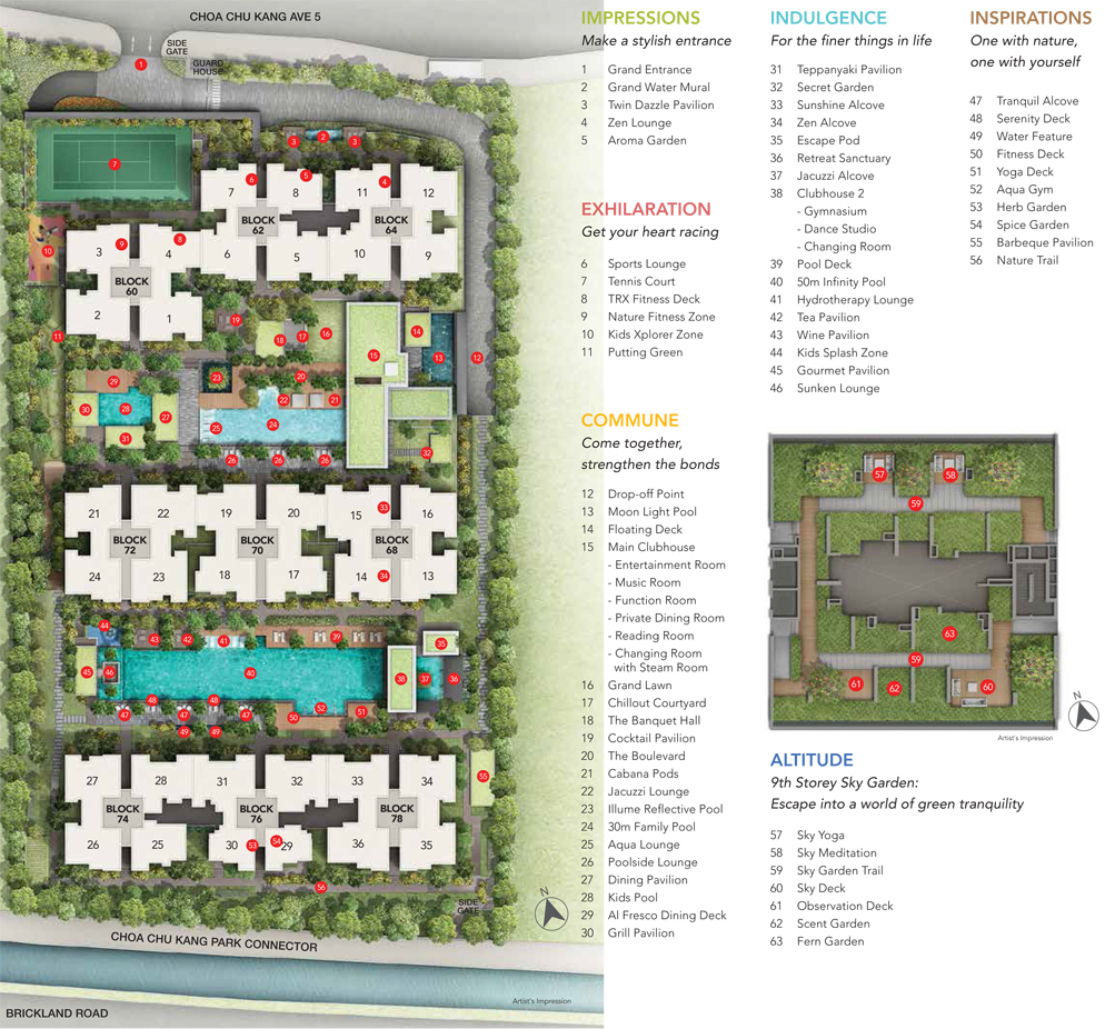 iNz Residence EC Site Map