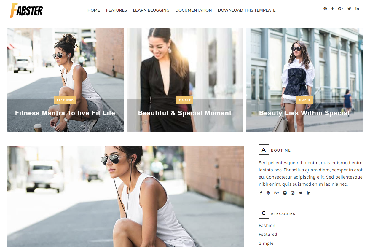 Fabster Blogger Template
