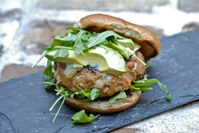 turkey burgers brie avocado arugula