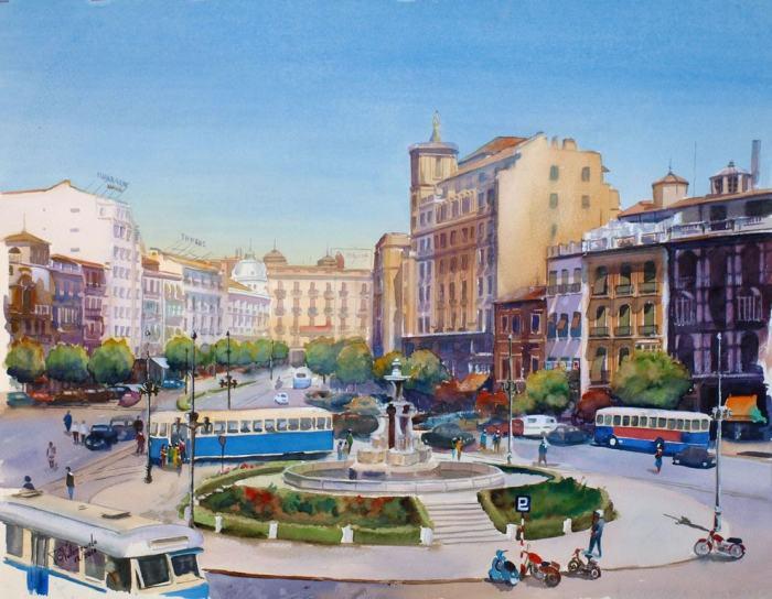 Испанский художник. Francisco Garcia Valenzuela