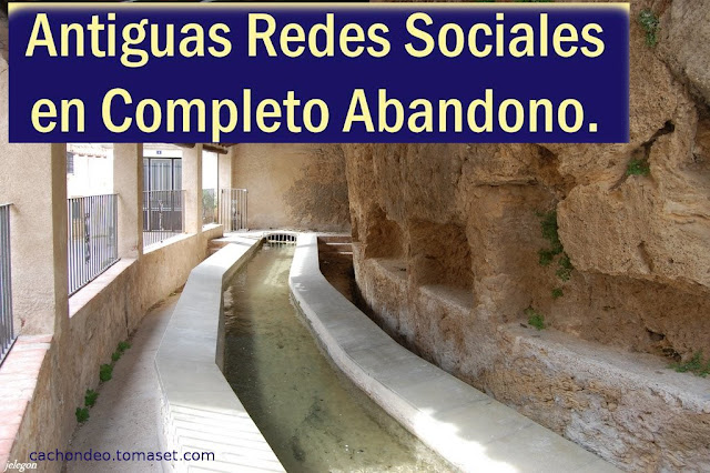 Antiguas redes sociales completo abandono, lavadero, acequia mayor, Beceite, Beseit
