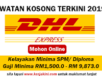 Jawatan Kosong Terkini 2019 DHL Services Sdn. Bhd - Tetap/ Kontrak