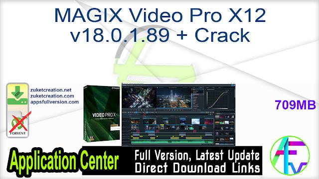 MAGIX Video Pro X12 v18.0.1.89 + Crack