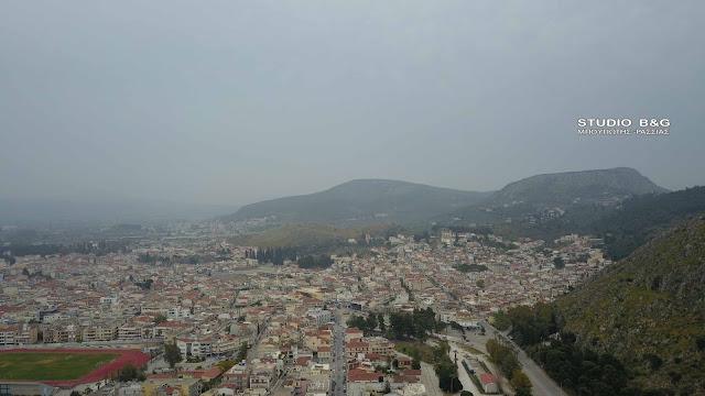 Έντονο το φαινόμενο με την Αφρικανική σκόνη στο Ναύπλιο