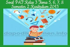 Soal PAT UKK Kelas 3 Semester 2 Tahun 2019 Tema 5, 6, 7, 8
