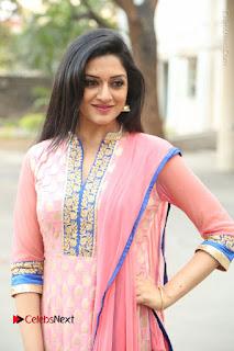 Actress Vimala Raman Stills in Beautiful Pink Salwar Kameez at (ONV) Om Namo Venkatesaya Press Meet  0214.JPG