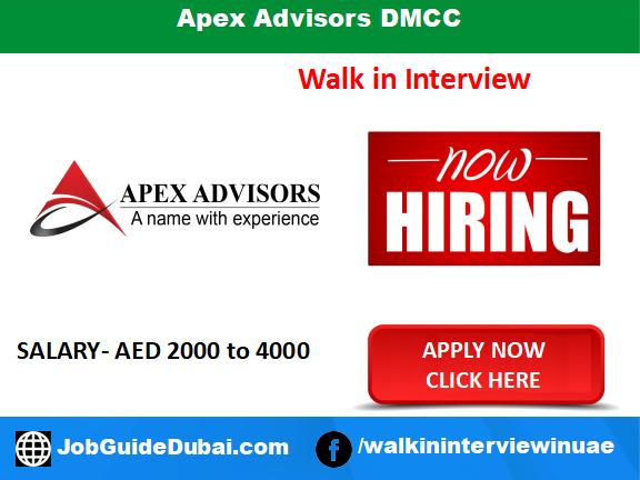 Apex Advisors DMCC career for administration receptionist job in Dubai UAE