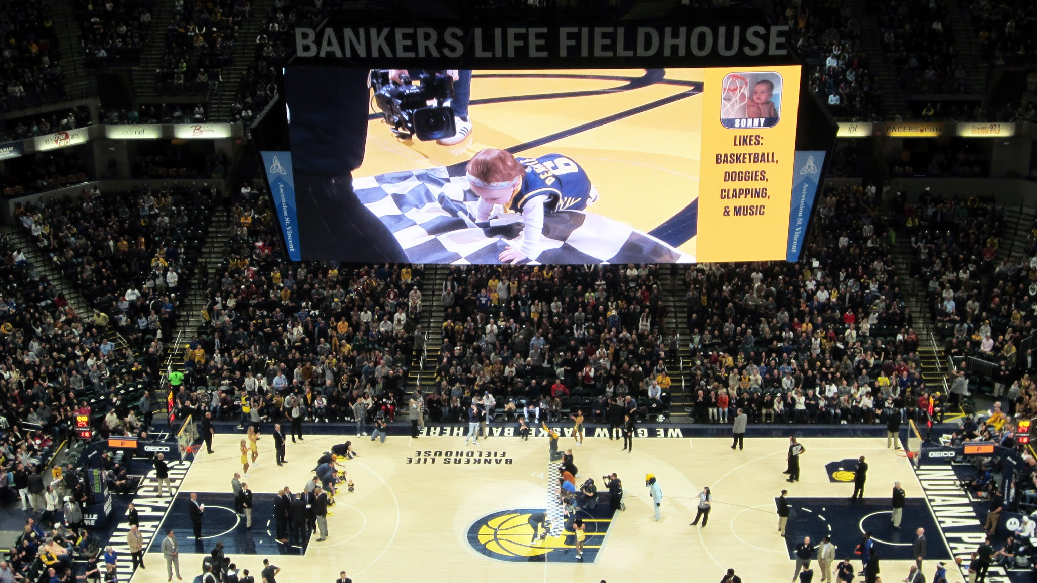 Racing babies at Bankers Life Fieldhouse